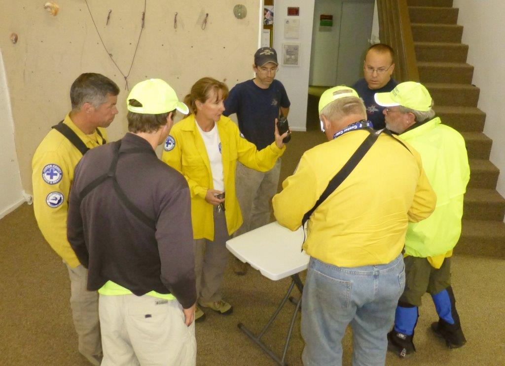 5am briefing at SAR base on Sunday am CCSAR and Pueblo SAR personnel